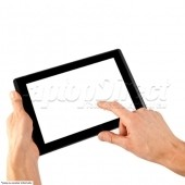Touch Screen pentru Apple iPad 1 alb cu buton home si cip IC