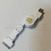 Cablu adaptor 3 in 1 cu prelungire