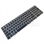 Tastatura Laptop HP ELitebook 8570p cu rama argintie