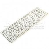 Tastatura Laptop Sony SVE1512E6EW alba cu rama