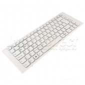 Tastatura Laptop Sony Vaio PCG-61211M alba cu rama